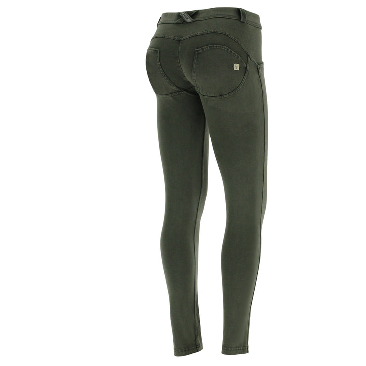 Freddy Wr.Up® Regular-Rise Skinny-Fit Green Pants With A Distressed Effect