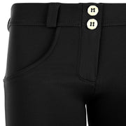 (WRUP1RF831-N) WR.UP® REGULAR-WAIST SKINNY-FIT BLACK PANTS IN BRUSHED D.I.W.O.® PRO