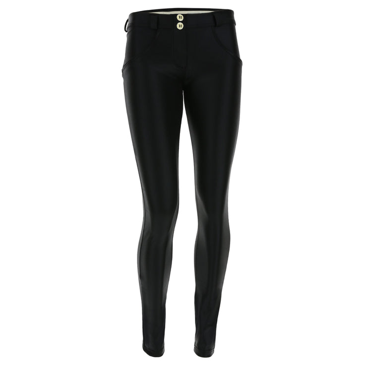 (WRUP1RF832-N) WR.UP® REGULAR-RISE SKINNY-FIT BLACK PANTS IN LUREX D.I.W.O.®