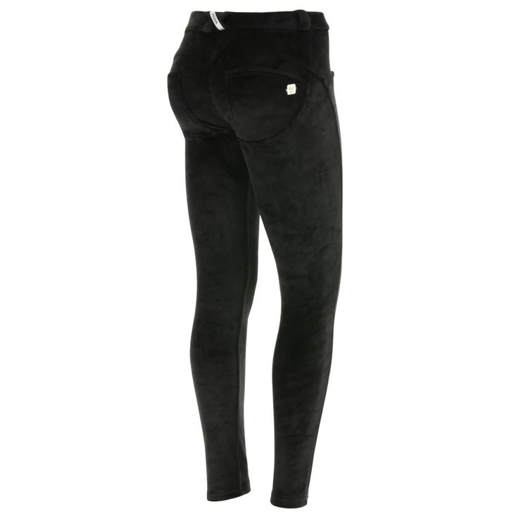 Freddy Regular-Waist Skinny-Fit Pants In Black Velvet