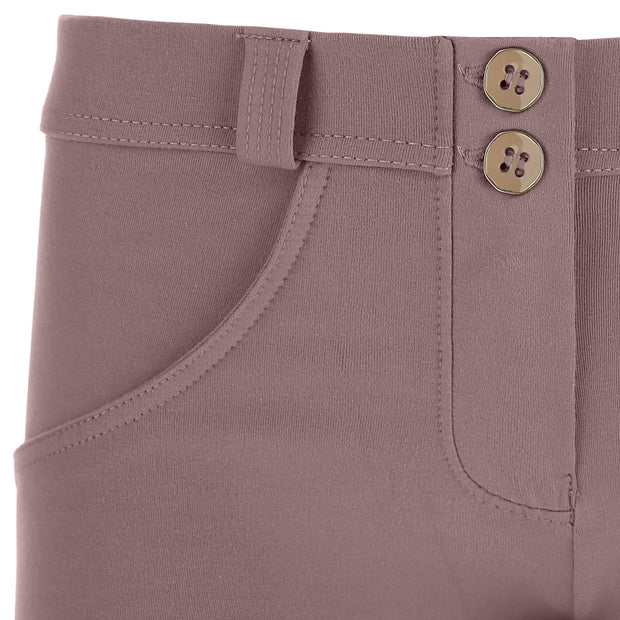 (WRUP2RC001-P43)WR.UP® SKINNY REGULAR WAIST TWILIGHT MAUVE PANTS IN STRETCH COTTON