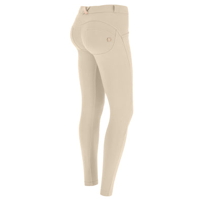 (WRUP2RC001-Z64) WR.UP® REGULAR-RISE SUPER SKINNY BEIGE PANTS