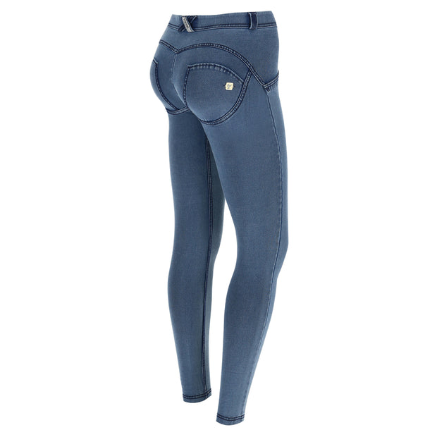 (WRUP2RC003-J4B)WR.UP® REGULAR-WAIST SUPER SKINNY PANTS IN LIGHT JERSEY DENIM