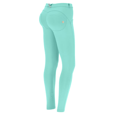 (WRUP2RC004-D850) WR.UP® REGULAR-WAIST SUPER SKINNY-FIT GREEN PANTS IN D.I.W.O.®