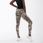 (WRUP2RC007-Z48) LIGHT CAMOUFLAGE WR.UP® REGULAR-WAIST SUPER SKINNY TROUSERS