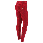 (WRUP2RS129-R111G) SNAKE PRINT SUPER SKINNY WR.UP® SHAPING TROUSERS