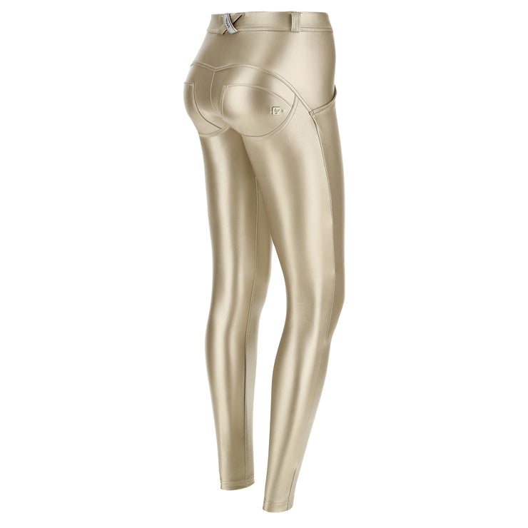 (WRUP2RS925-O10) METALLIC REGULAR-RISE WR.UP® SUPER-SKINNY GOLD PANTS