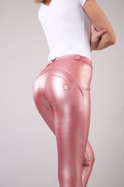 (WRUP2RS925-P103) METALLIC REGULAR-RISE WR.UP® SUPER-SKINNY PINK PANTS