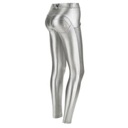 Freddy Metallic Regular-Rise Wr.Up® Super-Skinny Silver Pants