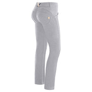(WRUP3RC001-H40)WR.UP® REGULAR-WAIST STRAIGHT HEM STRETCH COTTON TROUSERS