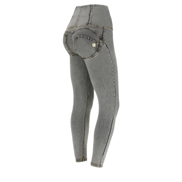 (IT_WRUP4HC003_J3Y) Denim-effect ankle-length high-rise WR.UP® super skinny trousers