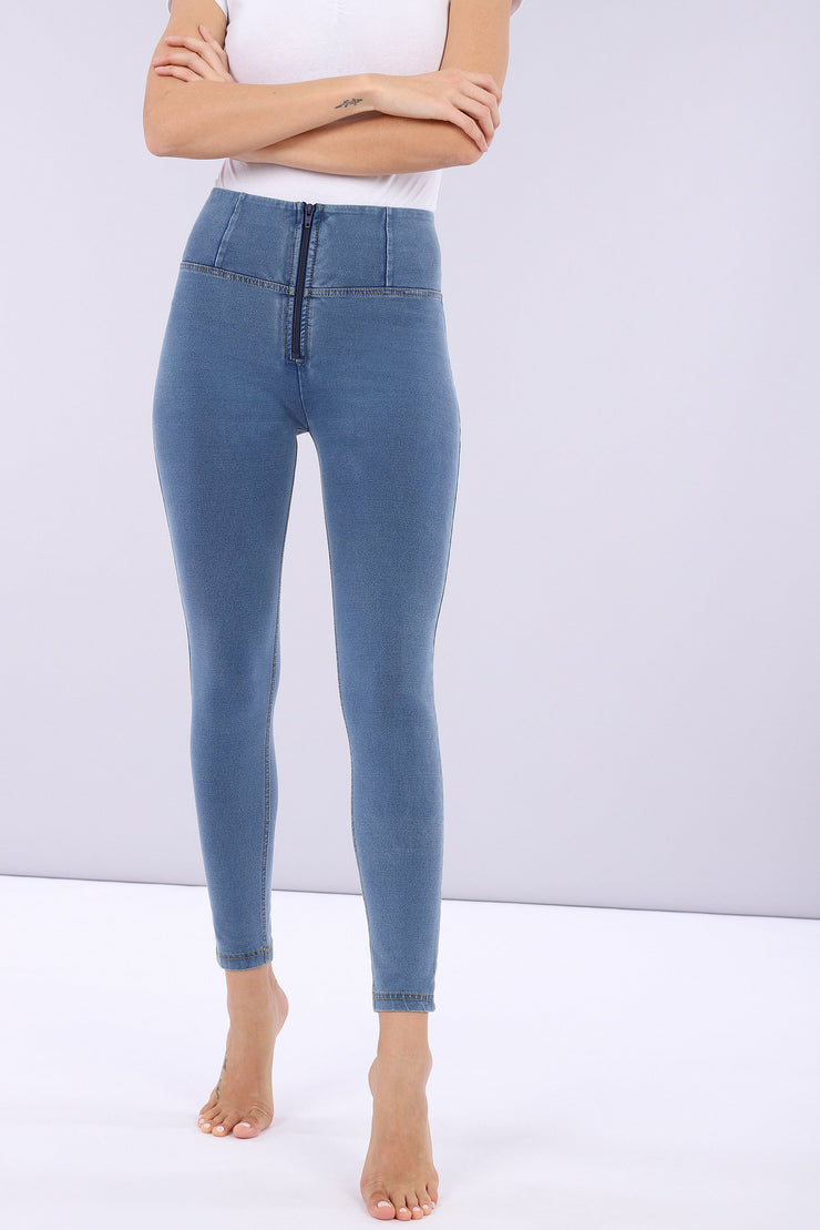 (IT_WRUP4HC003_J4Y) Denim-effect ankle-length high-rise WR.UP® super skinny trousers