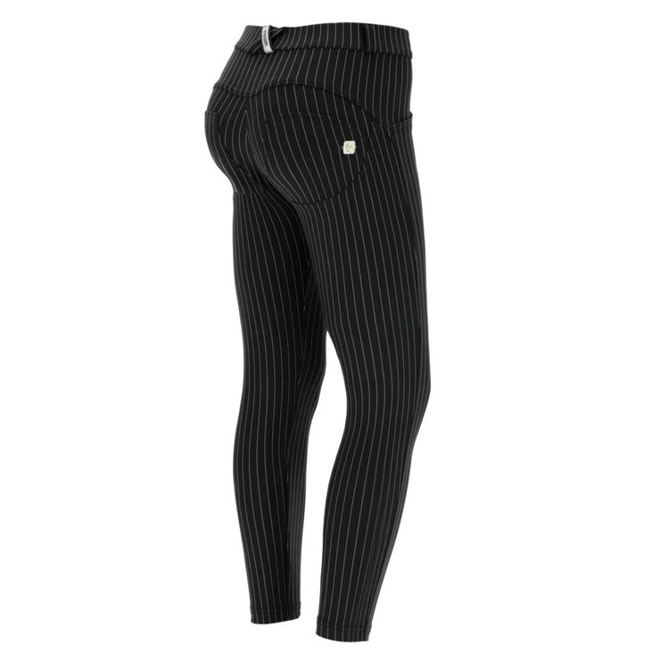 (WRUP4RF042-N) PINSTRIPE SUPER-SKINNY WR.UP® PANTS IN BLACK