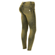 (WRUP4RS006-J56Y)DENIM-EFFECT COLOUR-WASH WR.UP® PANTS