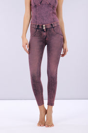 (WRUP4RS006-J57F)DENIM-EFFECT COLOUR-WASH WR.UP® PANTS