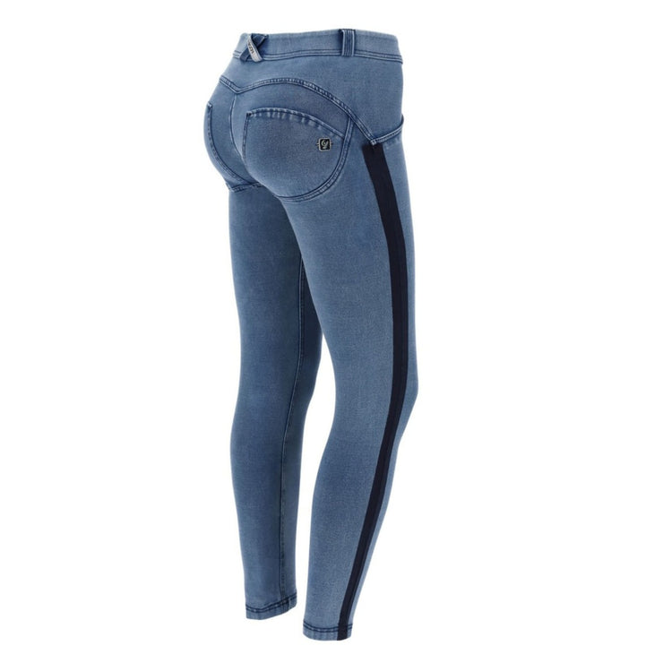 (WRUP5RF004-J4B) ANKLE-LENGTH WR.UP® SHAPING SKINNY JEANS WITH BLACK LATERAL BANDS