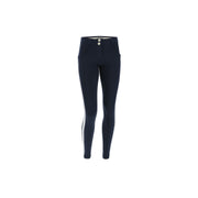 (WRUP5RF019-B94) ANKLE-LENGTH SHAPING WR.UP® SKINNY TROUSERS WITH GLITTER BANDS