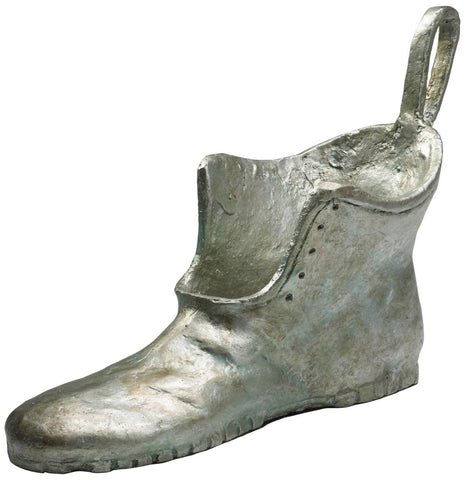 "Boot Game Token Replica 7.5""H in Cast Iron with Pewter Finish"