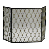 Waves 3-Panel Fire Screen with Mesh Backing