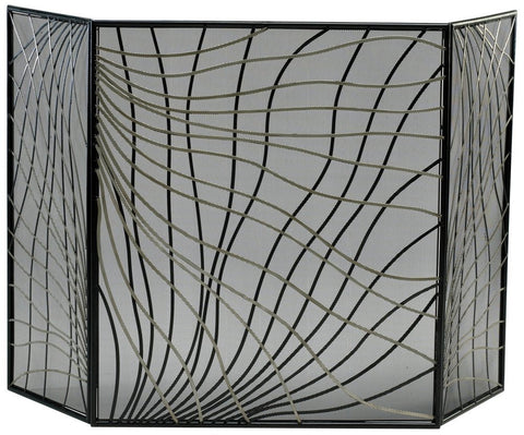 Finley Iron Fire Screen with Mesh Backing