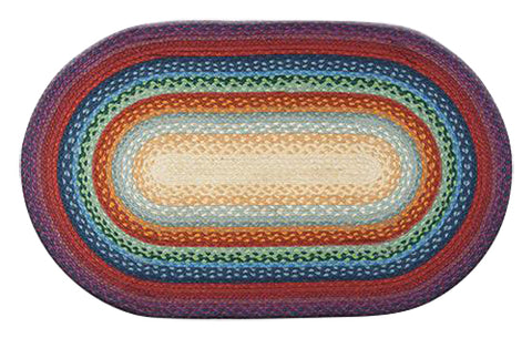 "Rainbow 27""x45"" Oval Braided Jute Rug 03-400"