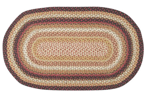 "Brick Road 27""x45"" Oval Braided Jute Rug 03-781"