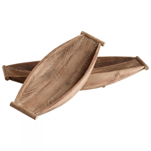 Dory Wood Trays 2-Piece Set in Natural Finish