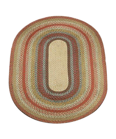 Honey/Vanilla/Ginger 4'x6' Oval Braided Jute Rug 06-300