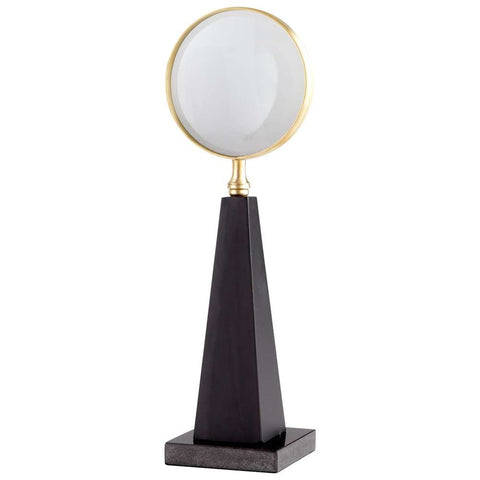 "Magnifying Glass Sculpture on Granite Base 15.5""H"