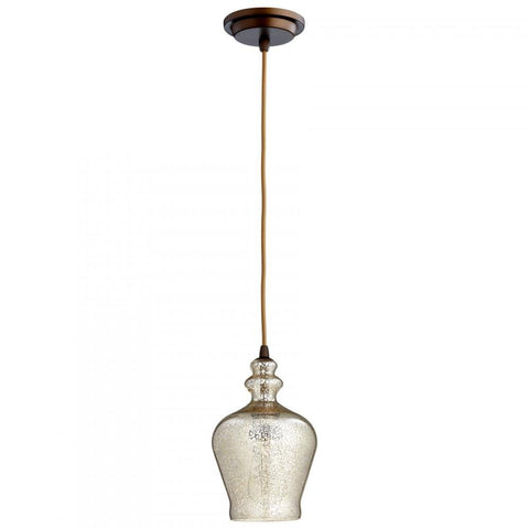 Calista 1-Light Pendant with Mercury Glass Shade