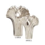 Alloy Palm Vase in Nickel Finish, Available in 2 Sizes