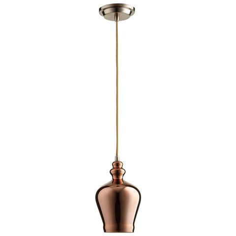 Calista 1-Light Pendant in Satin Copper Finish