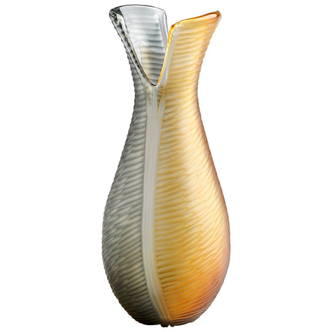 Candice Amber And Smoked Glass Vase In 3 Sizes Tntcommodities