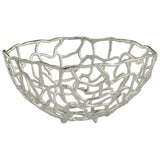 Enigma Silver Aluminum Basket in 2 Sizes