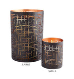 Weave Style Metal Candle Holder in 2 Sizes