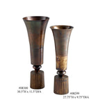 Agatha Antiqued Metal Vase, Available in 2 Sizes