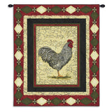 Le Coq French Provincial Rooster Art Tapestry Wall Hanging