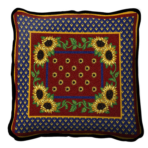 Sunflowers Splendor Art Tapestry Pillow