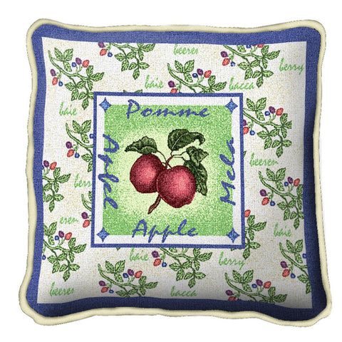 Alsacian Apple Art Tapestry Pillow