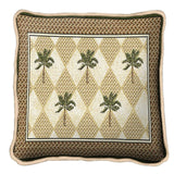 Colonial Palms Art Tapestry Pillow