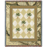 Colonial Palms Art Tapestry Throw