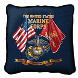 The United States Marine Corps Honor Commitment Courage Pillow