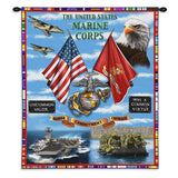 The United States Marine Corps Honor Commitment Courage Wall Hanging