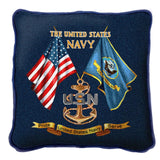 The United States Navy Pride Service Art Tapestry Pillow