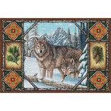 Wolf Lodge Art Tapestry Placemat, Set of 4