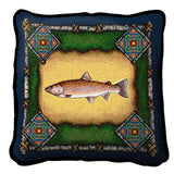 Fish Lodge Art Tapestry Pillow