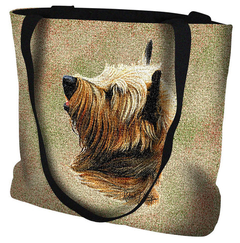 Cairn Terrier Dog Portrait Art Tapestry Tote Bag