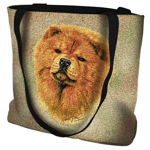 Chow Chow Dog Portrait Art Tapestry Tote Bag