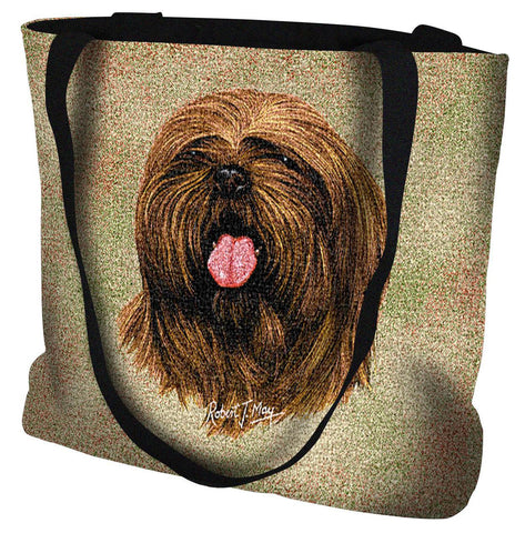 Lhasa Apso Dog Portrait Art Tapestry Tote Bag