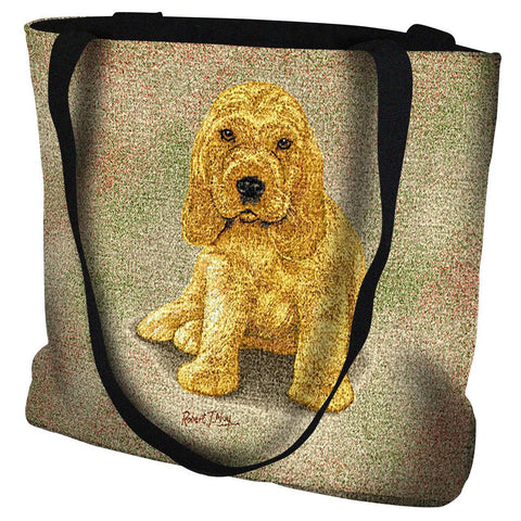 Cocker Spaniel Puppy Art Tapestry Tote Bag